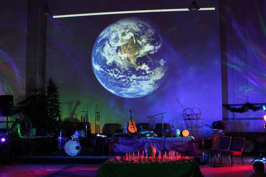 Khalsa Healing live band stage