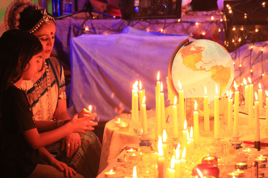 Candle lighting at a Khalsa event